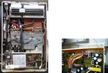 Due to the water heater being used normally on a daily basis for an extended period of five or ten years, the motor component such as a water controller inside the device degraded with time, causing a short that resulted in the inside of the device giving off smoke and burning.